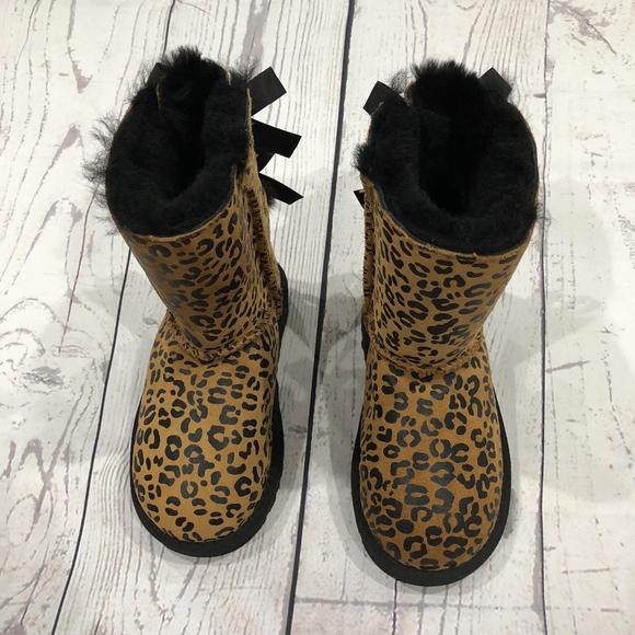 b3e8ba20c6a Bailey Bow Leopard Print Toddler Boots NWT